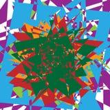 Illustrazione multicolore e chiazzata astratta eleme variopinto di progettazione Fotografia Stock
