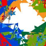 Illustrazione multicolore e chiazzata astratta eleme variopinto di progettazione Fotografie Stock Libere da Diritti