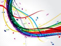 Fondo musicale astratto dell'onda illustrazione di stock
