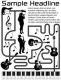 Illustrazione musicale della pagina Fotografie Stock