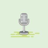 Illustrazione musicale di vettore dell'icona dell'attrezzatura del microfono Fotografia Stock Libera da Diritti