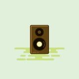 Illustrazione musicale di vettore dell'icona dell'attrezzatura dell'altoparlante rumoroso Fotografia Stock