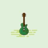 Illustrazione musicale di vettore dell'icona dell'attrezzatura della chitarra Fotografia Stock