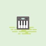Illustrazione musicale di vettore dell'icona dell'attrezzatura della tastiera Immagine Stock