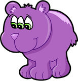 Illustrazione mutante straniera di vettore dell'orso Immagini Stock