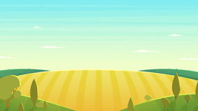 Illustrazione naturale di vettore del fumetto del paesaggio Fotografia Stock Libera da Diritti