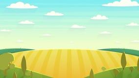 Illustrazione naturale di vettore del fumetto del paesaggio Fotografia Stock