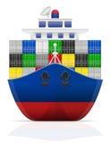 Illustrazione nautica di vettore della nave da carico Fotografie Stock Libere da Diritti