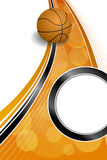 Illustrazione nera arancio astratta di verticale della struttura del cerchio della palla di pallacanestro di sport del fondo Immagine Stock Libera da Diritti