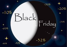 Illustrazione nera di venerdì illustrazione di stock
