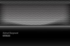 Illustrazione nera e grigia 005 di Chrome del fondo di struttura di vettore Fotografia Stock Libera da Diritti