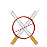 Illustrazione non fumatori Fotografia Stock Libera da Diritti