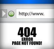 illustrazione non trovata del browser della pagina di 404 errori Immagini Stock Libere da Diritti