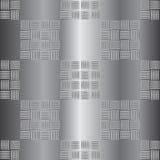 Illustrazione ondulata di vettore del piatto d'acciaio Fotografia Stock