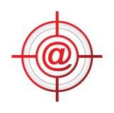 illustrazione online di concetto del segno dell'obiettivo di aroba Fotografie Stock