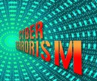 Illustrazione online di Crime 3d del terrorista del terrorismo cyber illustrazione vettoriale