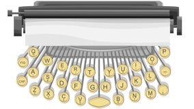Illustrazione orizzontale della macchina da scrivere. Fotografia Stock