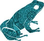 Illustrazione ornamentale tirata della rana di scarabocchio con gli ornamenti dello zentangle illustrazione vettoriale