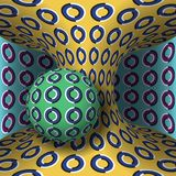 Illustrazione ottica di illusione di moto La sfera è rotazione intorno di un hyperboloid commovente Priorità bassa astratta di fa Fotografia Stock Libera da Diritti