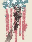 Illustrazione patriottica degli S.U.A. Fotografie Stock