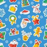 Illustrazione per applique piano dell'illustrazione di vettore di progettazione del nuovo anno e di Natale Immagine Stock Libera da Diritti