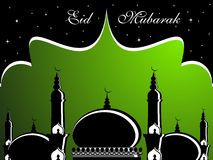Illustrazione per eid Mubarak Fotografie Stock