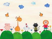 Illustrazione per i bambini Fotografia Stock Libera da Diritti