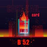 Illustrazione per i cocktail delle carte Cocktail B52 Fotografia Stock