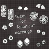 Illustrazione per i gioielli del taglio del laser illustrazione di stock