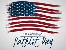 Illustrazione per il giorno del patriota 11 settembre Illustrazione con U S Bandierina royalty illustrazione gratis