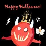 Illustrazione per il mostro rosso allegro di festa di Halloween illustrazione di stock