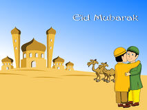 Illustrazione per la celebrazione del eid Fotografie Stock Libere da Diritti