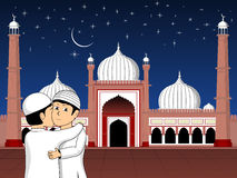 Illustrazione per la celebrazione di Mubarak del eid Fotografia Stock