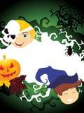 Illustrazione per la celebrazione felice di Halloween Fotografia Stock