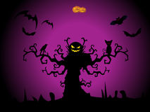 Illustrazione per la celebrazione felice di Halloween Fotografie Stock Libere da Diritti