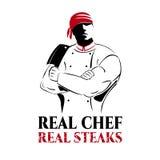 Illustrazione per lo steakhouse Fotografia Stock