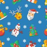 Illustrazione per illustrazione piana di vettore del modello di progettazione del nuovo anno e di Natale Immagine Stock Libera da Diritti