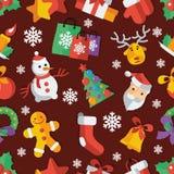 Illustrazione per illustrazione piana di vettore di progettazione del nuovo anno e di Natale Fotografia Stock