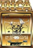 Illustrazione peruviana antica dell'ornamento dell'oro Fotografia Stock