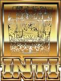 Illustrazione peruviana antica dell'ornamento dell'oro Immagine Stock Libera da Diritti