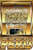 Illustrazione peruviana antica dell'ornamento dell'oro Immagine Stock