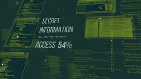 Illustrazione a più strati di codice dei pirati informatici Immagini Stock
