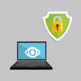 Illustrazione piana circa il sistema di sicurezza Immagine Stock Libera da Diritti