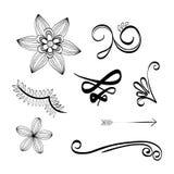 Illustrazione piana circa progettazione di scarabocchio Fotografie Stock