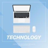 Illustrazione piana del computer portatile Fotografia Stock Libera da Diritti