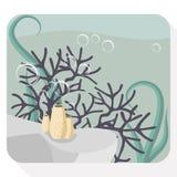 Illustrazione piana dell'acquario Immagini Stock