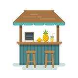 Illustrazione piana della barra della spiaggia Immagine Stock Libera da Diritti
