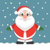 Illustrazione piana di festa di natale di progettazione di Santa Claus Cartoon Illustrazione variopinta Fotografia Stock