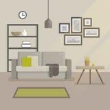 Illustrazione piana di interior design scandinavo royalty illustrazione gratis