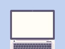 Illustrazione piana di progettazione del computer portatile Fotografie Stock